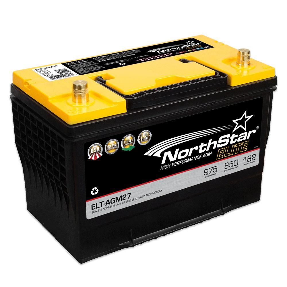 Northstar Starter- und Versorgungsbatterie Reinblei AGM 85Ah 850A ELT-AGM27